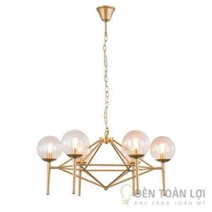 Đèn thả: Bộ đèn thả trang trí 6 bóng hình cầu