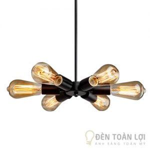 Bộ đèn thả 6 bóng Edison