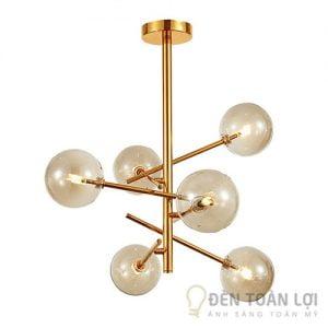 Đèn thả trang trí hình cầu 6 bóng vàng