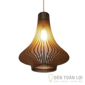 Đèn Gỗ: Mẫu đèn gỗ trang trí hình củ tỏi