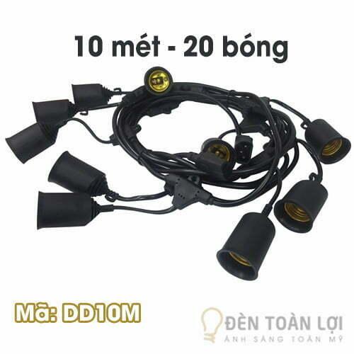 Đèn dây: Đèn dây trang trí ngoài trời 10mét - Mã: DD10M