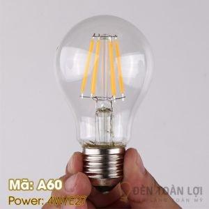 Bóng đèn: Bóng A60 4W đuôi vặn E27