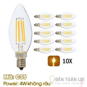 Bóng đèn: Bóng đèn LED không râu đuôi E14 Mã C35