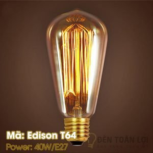 Bóng đèn: Bóng LED Edison 40W E27 Mã T64
