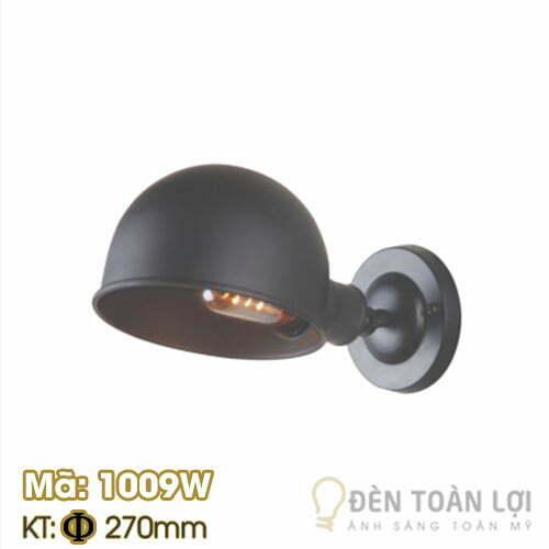 Đèn vách: Mẫu đèn vách chao nửa hình cầu Mã 1009W