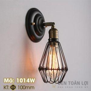 Đèn vách: Mẫu đèn vách lồng sắt trang trí kiểu cổ điển Mã: 1014W2