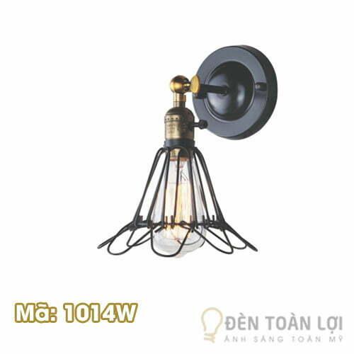 Đèn vách: Mẫu đèn vách lồng sắt hình quả cầu lôngMã 1014W