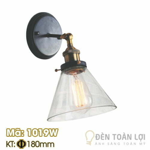Đèn vách: Mẫu đèn vách chóa nhựa trang trí Mã 1019W