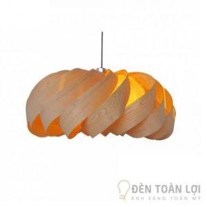 Đèn Gỗ Mẫu đèn thả trần xoay mộc mạc cho phòng ngủ, phòng bếp (1)