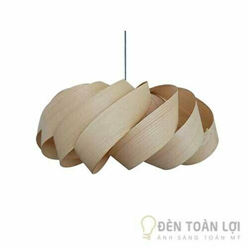 Đèn Gỗ Mẫu đèn thả trần xoay mộc mạc cho phòng ngủ, phòng bếp (2)