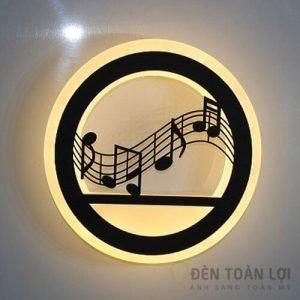 Đèn Vách Mẫu đèn tường led hình nốt nhạc trang trí phòng khách