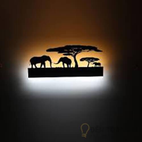 Đèn Vách Mẫu đèn trang trí hình con voi gắn tường 1