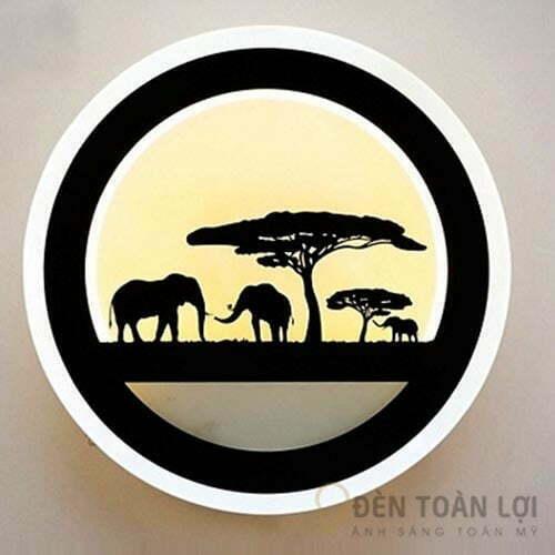 Đèn Vách Mẫu đèn trang trí hình con voi gắn tường