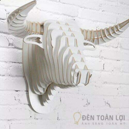 Đèn gỗ Mẫu đèn đầu trâu bằng gỗ ghép ấn tượng cho căn hộ gia đình (2)