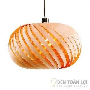 Đèn gỗ Mẫu đèn dạng xoáy tròn - Điểm nhấn độc đáo cho nhà hàng (1)
