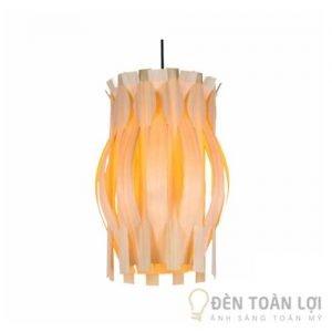 Đèn gỗ Mẫu đèn gỗ thả trần lãng mạn cho phòng khách
