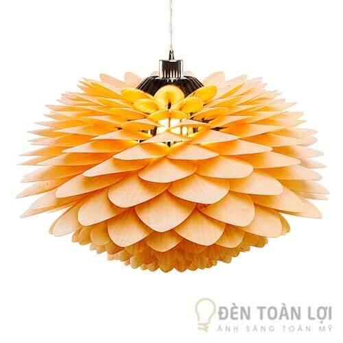 Đèn gỗ Mẫu đèn hình hoa thược dược tạo nên sự tinh tế cho quán cafe, nhà hàng (1)