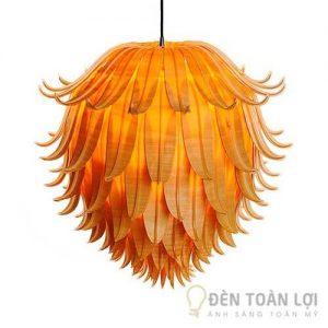 Đèn gỗ Mẫu đèn hoa quỳnh tinh tế lãng mạn cho không gian sống