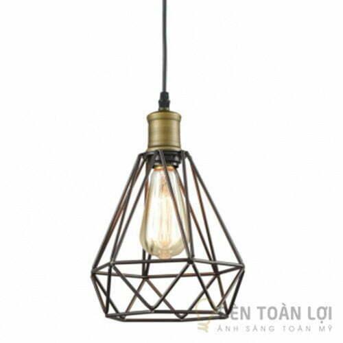 Đèn Thả: Mẫu đèn lồng sắt hình kim cương cực đẹp trang trí quán cafe