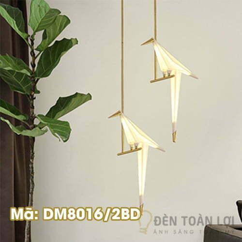 Đèn Thả: Đèn 2 con hạc thả trần trang trí quán ăn Mã: DM8016-2B