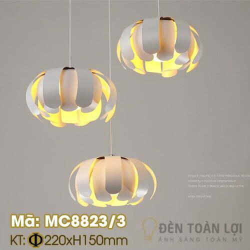 Đèn thả: Bộ đèn thả hình hoa cúc trắng trang trí phòng khác Mã: MC8823/3