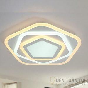 Đèn Ốp Trần Mẫu đèn ốp sát trần hình ngũ giác trang trí phòng ăn