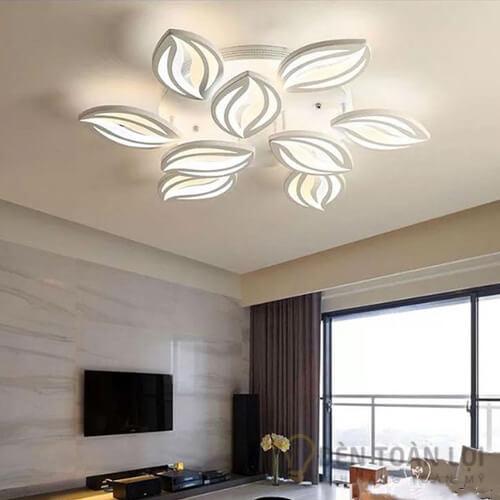 Đèn Ốp Trần Mẫu đèn ốp trần hiện đại 9 cánh hoa ly trang trí phòng khách (1)