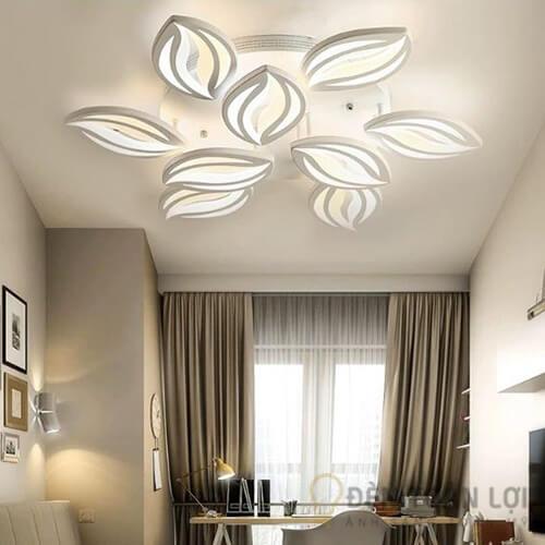 Đèn Ốp Trần Mẫu đèn ốp trần hiện đại 9 cánh hoa ly trang trí phòng khách