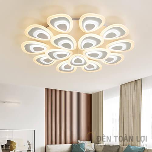 Đèn Ốp Trần: Mẫu đèn led áp trần 15 cánh nắng hiện đại và thời thượng