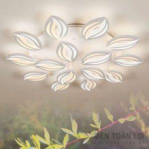 Đèn Ốp Trần Mẫu đèn led ốp trần 15 cánh hoa ly trang trí khách sạn (1)
