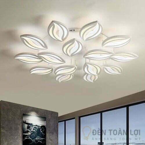 Đèn Ốp Trần Mẫu đèn led ốp trần 15 cánh hoa ly trang trí khách sạn (2)