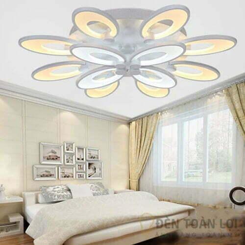 Đèn Ốp Trần Mẫu đèn led 12 cánh tai thỏ cho trang trí khách sạn 1