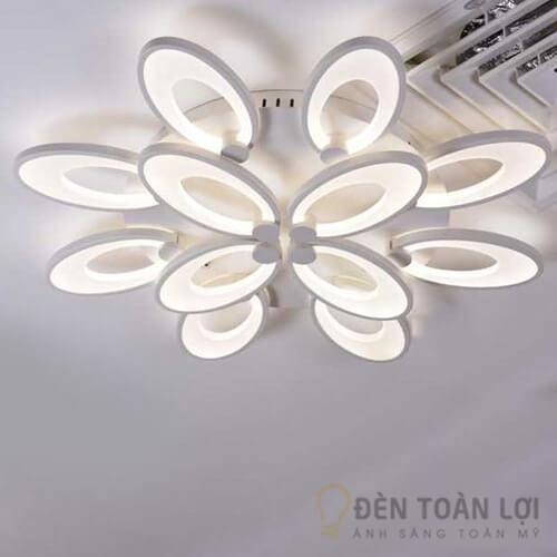 Đèn Ốp Trần Mẫu đèn led 12 cánh tai thỏ cho trang trí khách sạn (2)