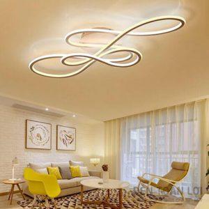 Đèn Ốp Trần Mẫu đèn mâm áp trần led hiện đại cho phòng khách