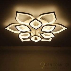 Đèn Ốp Trần Mẫu đèn mâm ốp trần 12 cánh sen trang trí phòng hội nghị