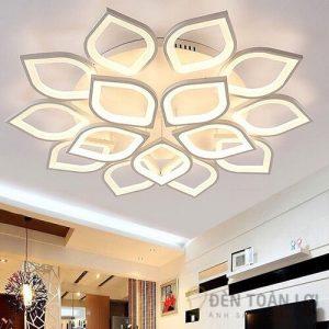 Đèn Ốp Trần Mẫu đèn mâm ốp trần 15 cánh sen hiện đại cho phòng khách