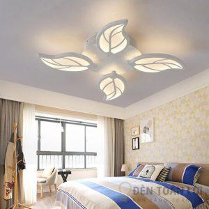 Đèn Ốp Trần Mẫu đèn mâm 4 lá đèn led nhẹ nhàng và lung linh