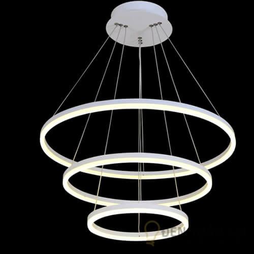 Đèn thả Mẫu đèn led thả trần hình tròn 3 vòng viền mỏng độc đáo (1)