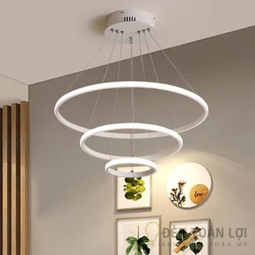 Đèn thả Mẫu đèn led thả trần hình tròn 3 vòng viển mỏng độc đáo (2)