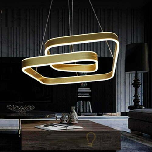 Đèn thả Mẫu đèn nghệ thuật bóng led 3 chế độ màu sang trọng
