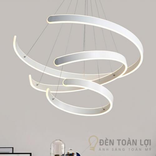 Đèn thả Mẫu đèn thả TL-002 với 3 vòng tròn khuyết trang trí phòng ăn (2)