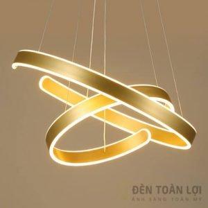 Đèn thả Mẫu đèn thả TL-005 với 2 vòng tròn khuyết dùng cho nhà hàng