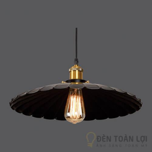 Đèn thả Mẫu đèn thả chao màu đen hình cây dù trang trí nhà khách