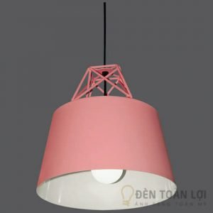 Đèn thả Mẫu đèn thả chao nhôm màu hồng tinh tế cho phòng khách
