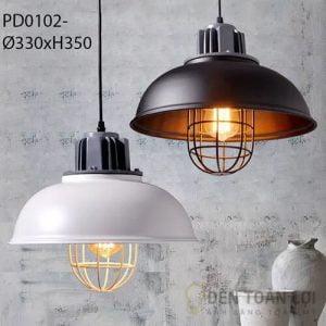 Đèn thả Mẫu đèn thả sắt có lồng bảo vệ trang trí phòng ăn