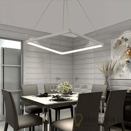 Đèn thả Mẫu đèn led thả trần 1 khung vuông cho phòng khách