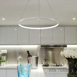 Đèn thả Mẫu đèn led thả trần 1 vòng tròn đơn giản thanh lịch