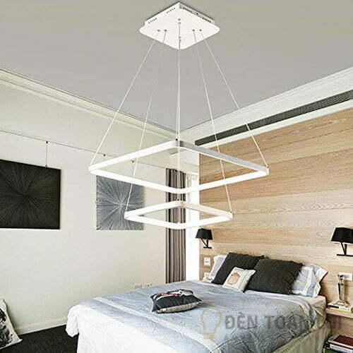 Đèn thả Mẫu đèn led thả trần 2 khung vuông sang trọng 1