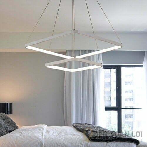 Đèn thả Mẫu đèn led thả trần 2 khung vuông sang trọng