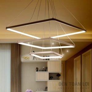 Đèn thả Mẫu đèn led thả trần 3 khung vuông tiết kiệm điện